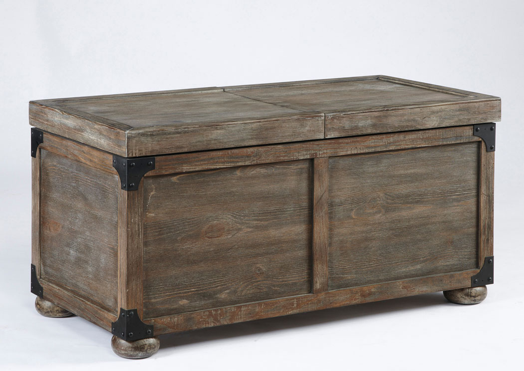 Rustic Storage Cocktail Table,Signature Design By Ashley