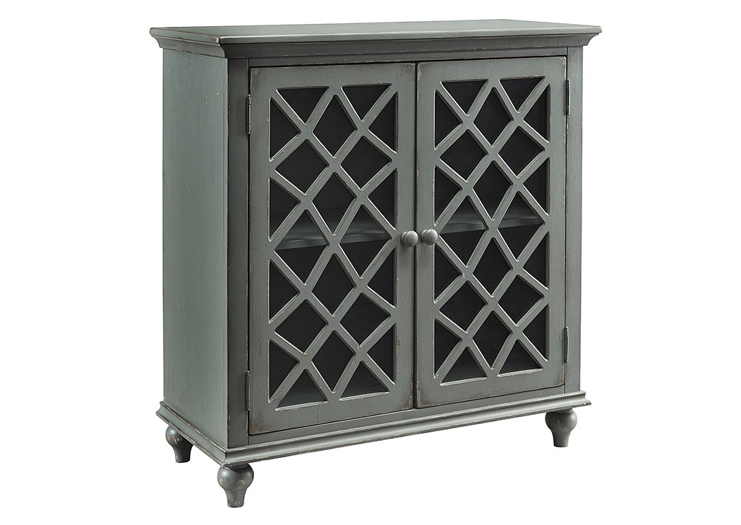 Mirimyn Antique Gray 2 Door Accent Cabinet,ABF Signature Design by Ashley