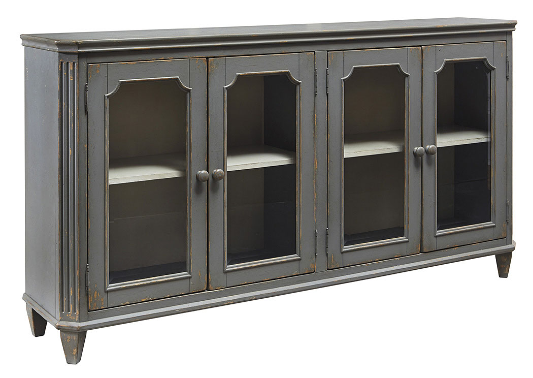 Mirimyn Antique Gray 4 Door Accent Cabinet,ABF Signature Design by Ashley