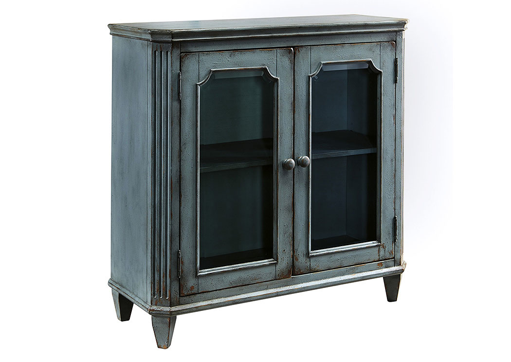 Mirimyn Antique Teal 2 Door Accent Cabinet,Signature Design By Ashley