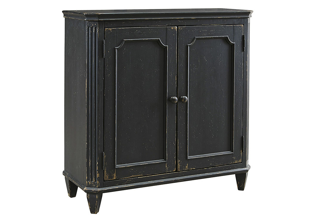 Mirimyn Antique Black 2 Door Accent Cabinet,Signature Design by Ashley
