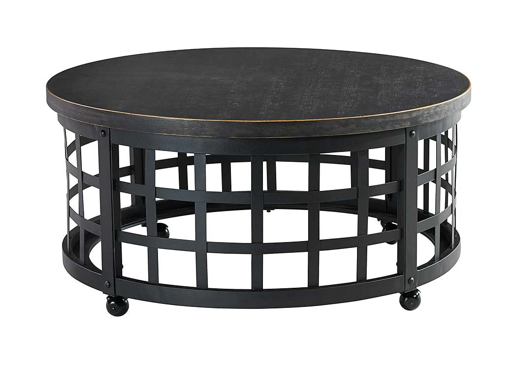 Marimon Black Round Cocktail Table,Signature Design By Ashley