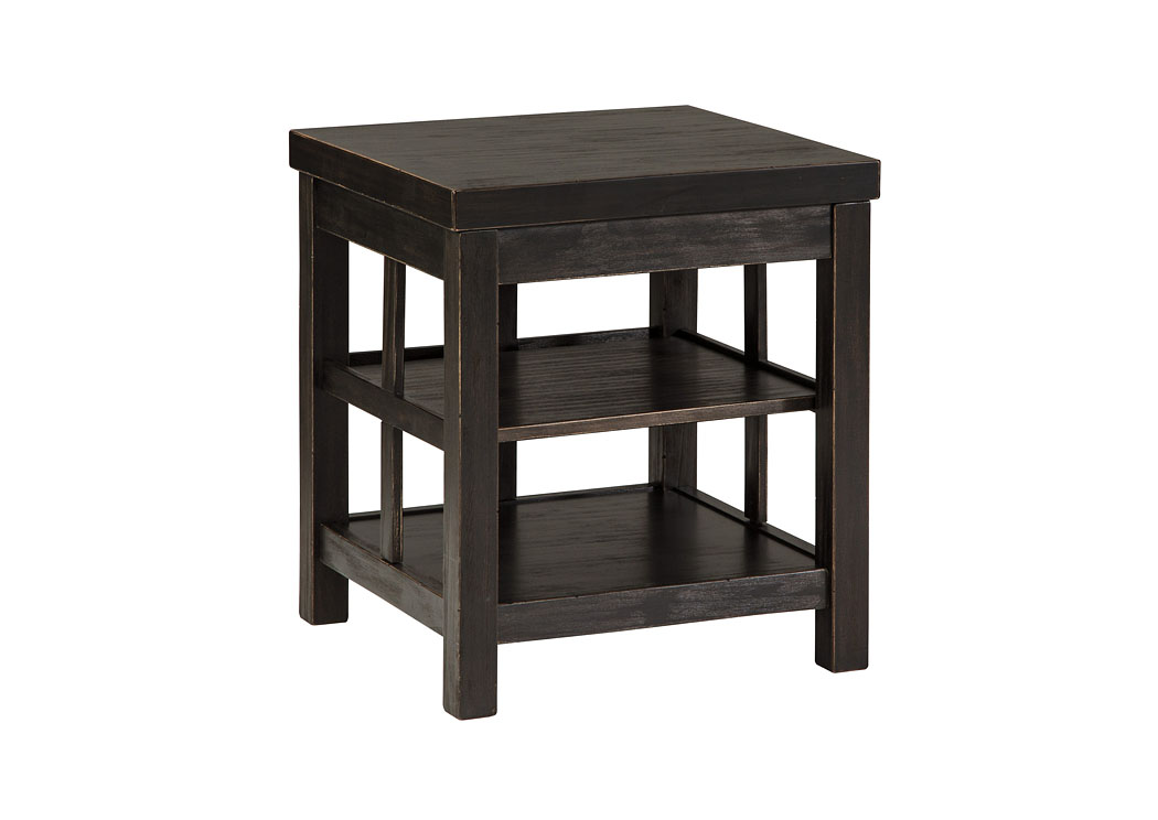 Best Buy Furniture And Mattress Gavelston Rubbed Black Square End Table