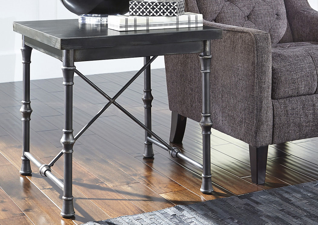 Ballor Pewter Square End Table