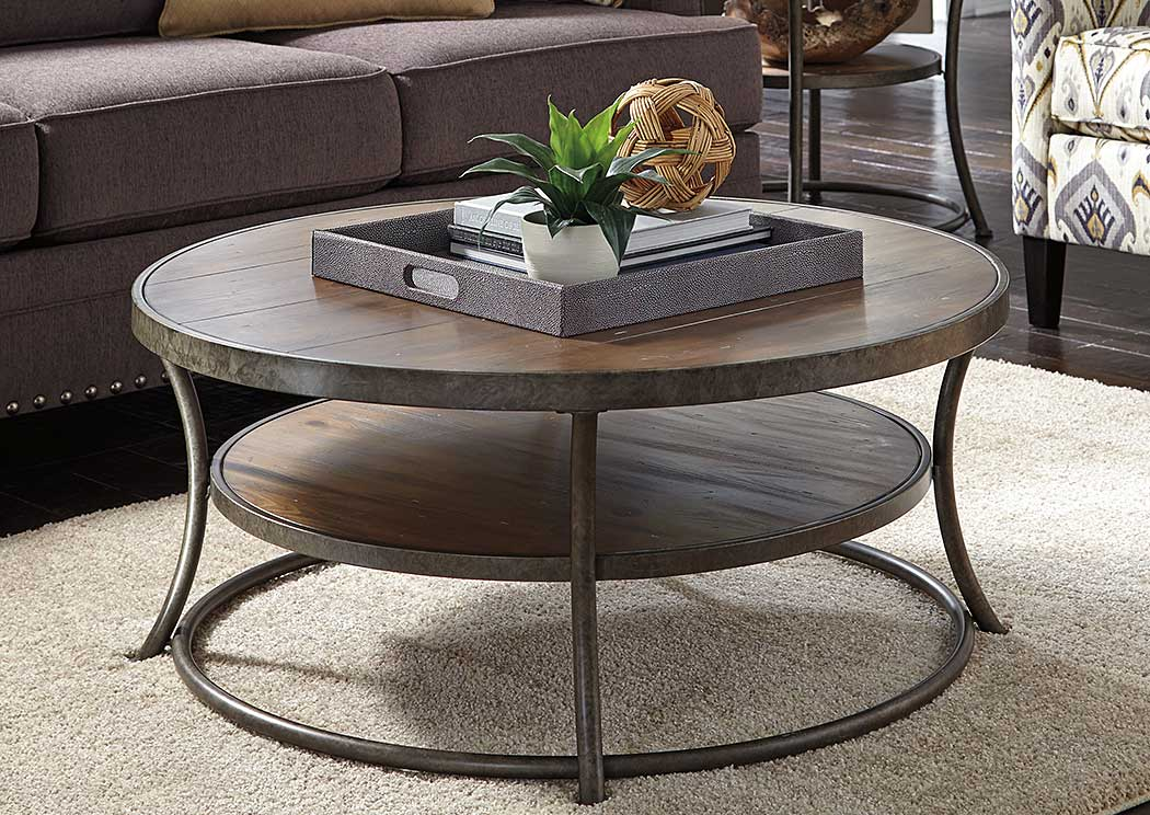 Nartina Round Cocktail Table,Signature Design By Ashley