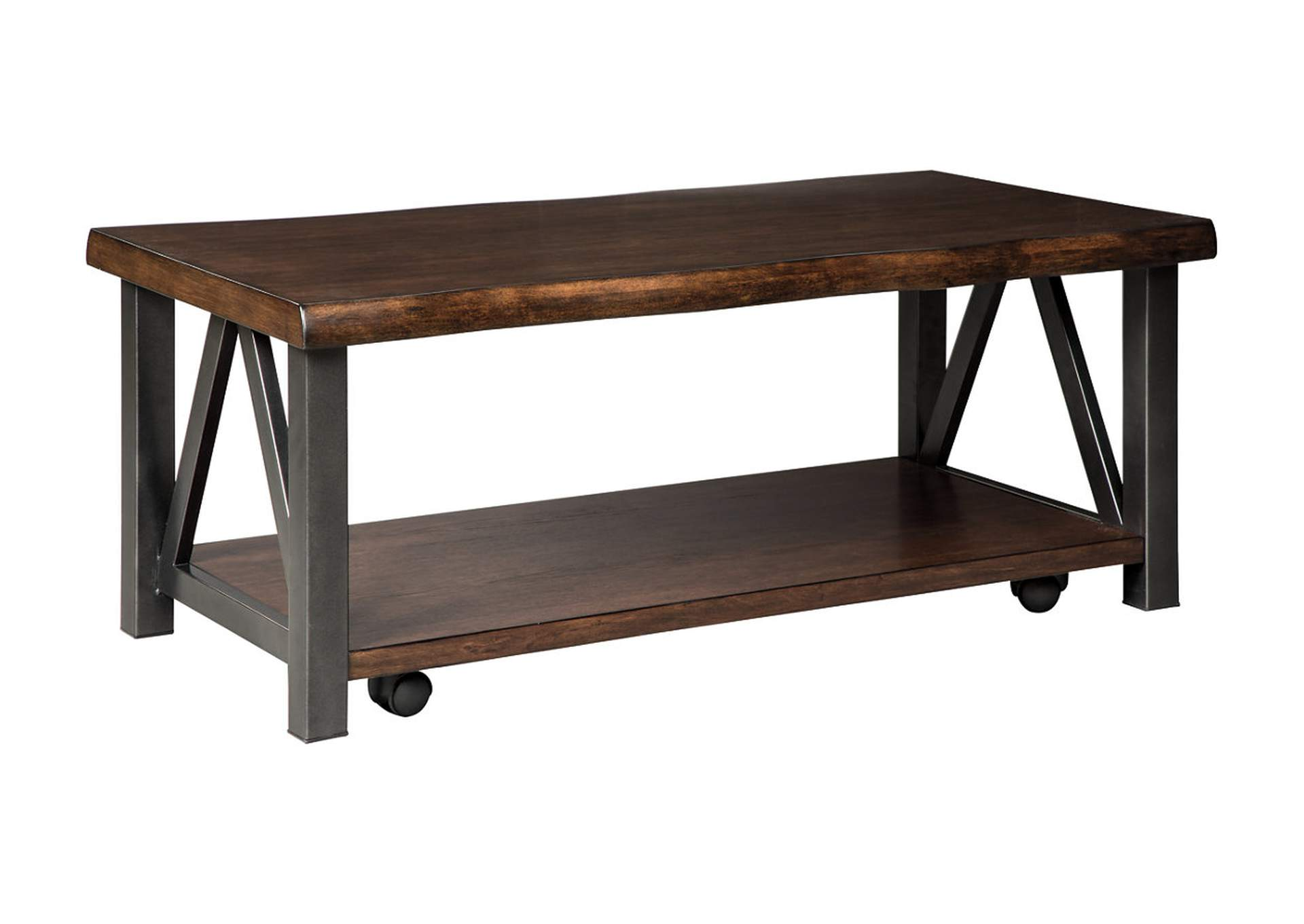 Esmarina Walnut Brown Rectangular Cocktail Table,Signature Design By Ashley