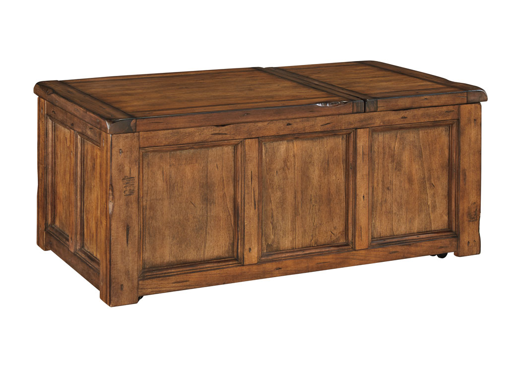 Tamonie Medium Brown Rectangular Lift Top Cocktail Table,Signature Design By Ashley