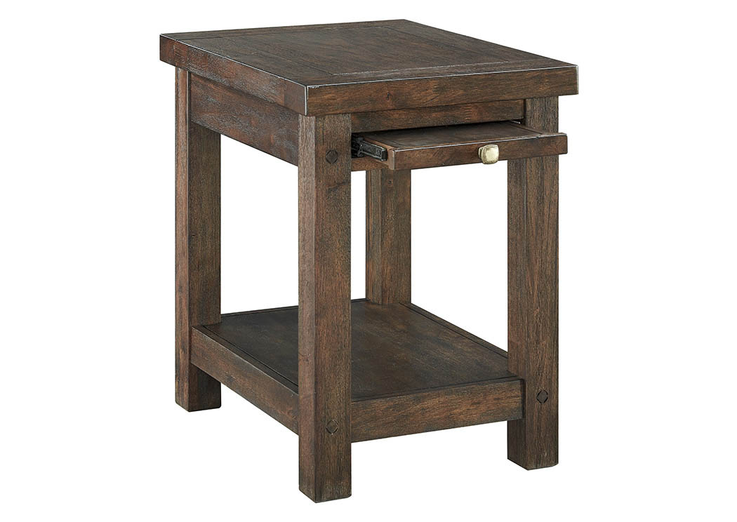 Windville Dark Brown Chair Side End Table,Signature Design By Ashley