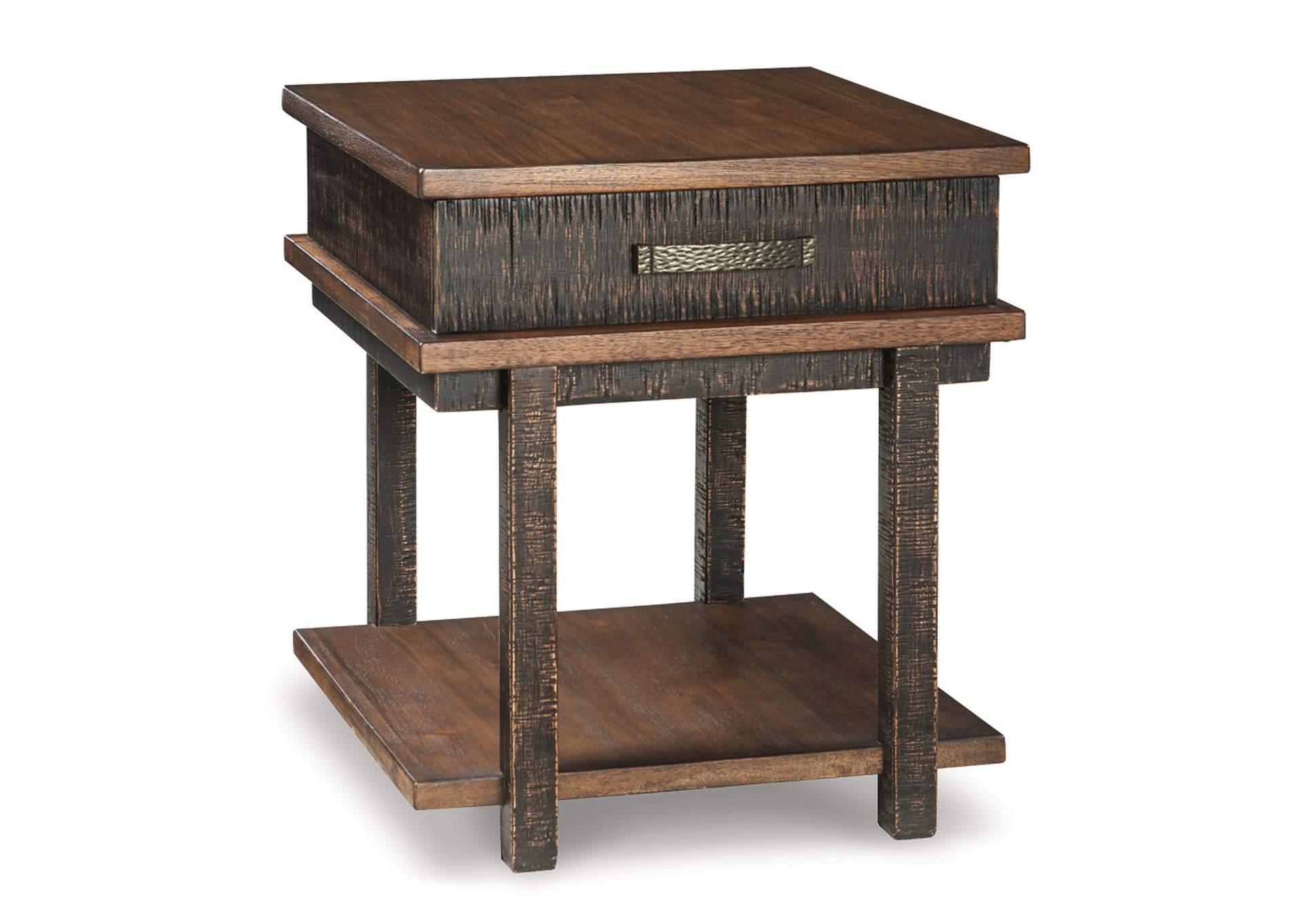 Harlem Furniture Stanah Two Tone Rectangular End Table