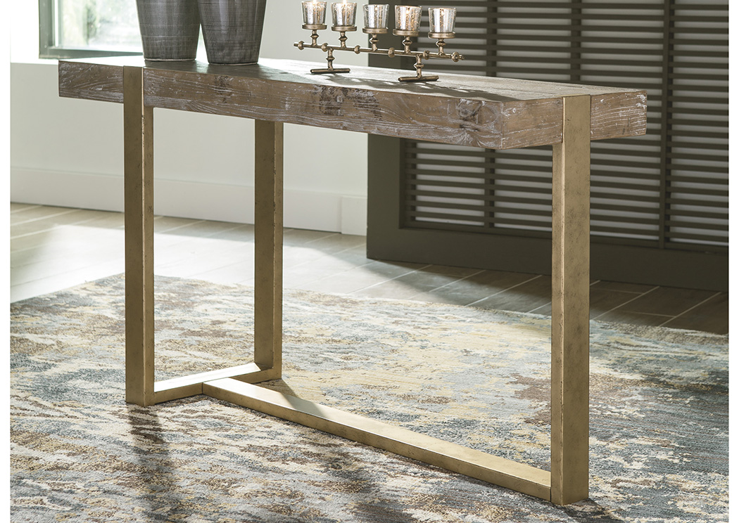 Paluxy Light Brown Sofa Table,Signature Design By Ashley