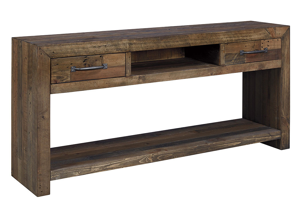 347286 Sommerford Brown Sofa Table