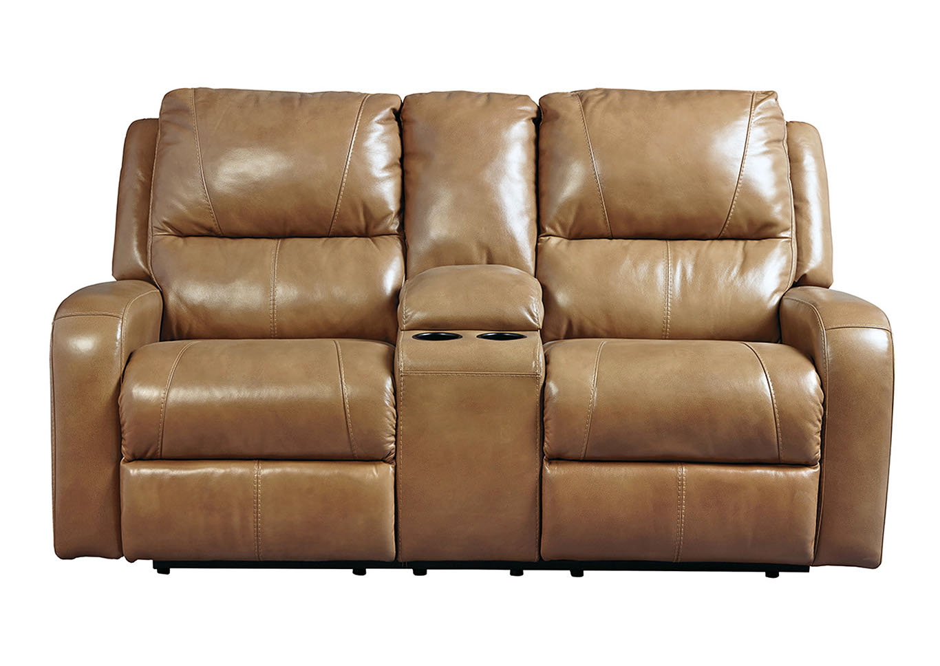 Kemper Sales Roogan Blondie Double Reclining Loveseat W Console