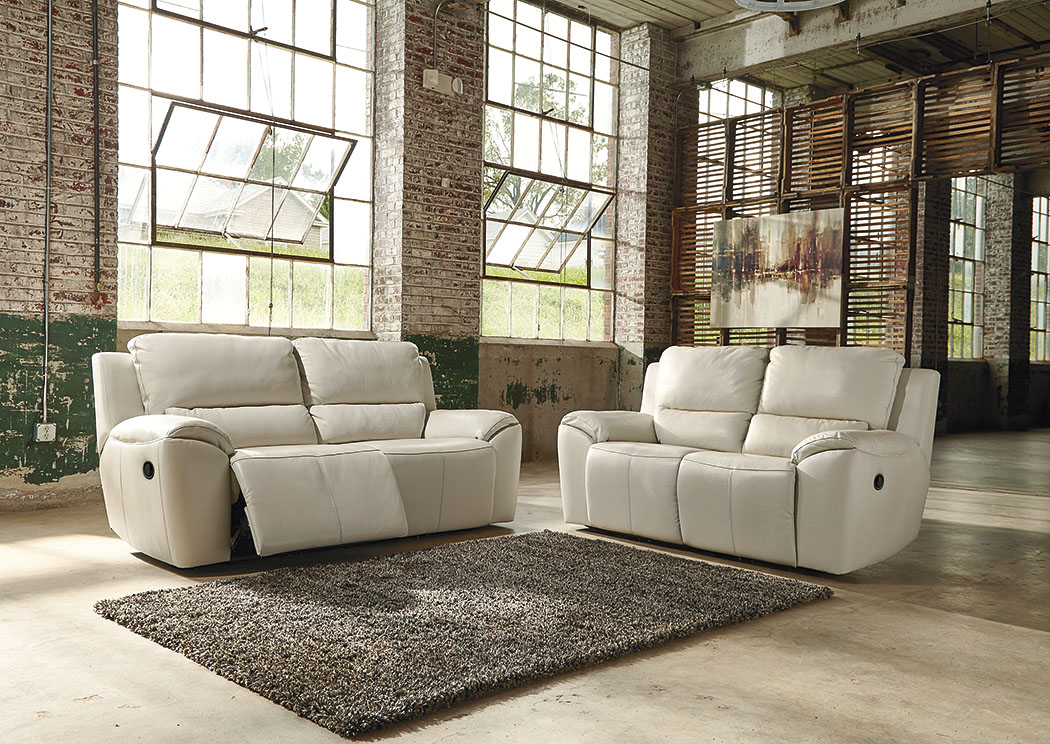 Valeton Cream 2 Seat Reclining Sofa and Loveseat,Signature Design By Ashley