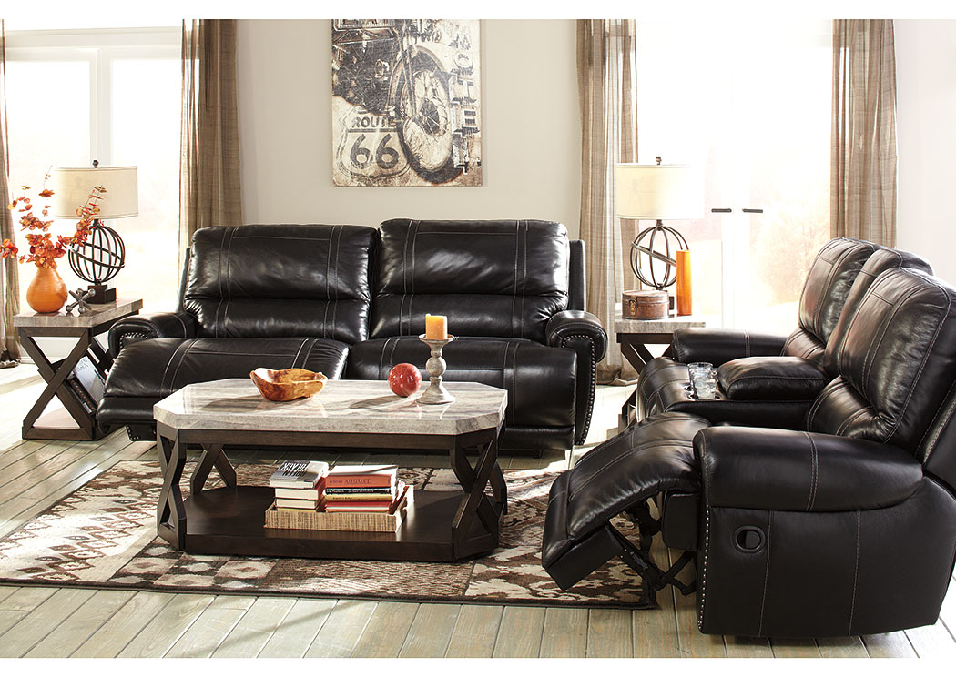 Paron Antique Reclining Power Sofa & Loveseat,Signature Design By Ashley