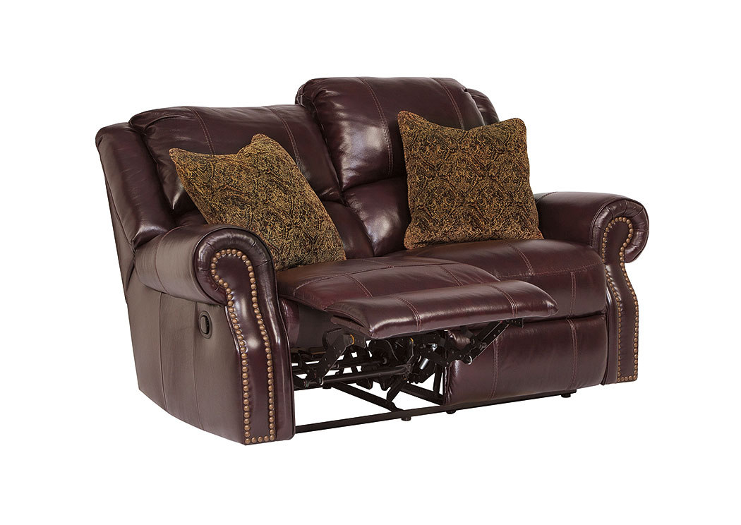 Walworth Black Cherry Reclining Power Loveseat,Signature Design by Ashley