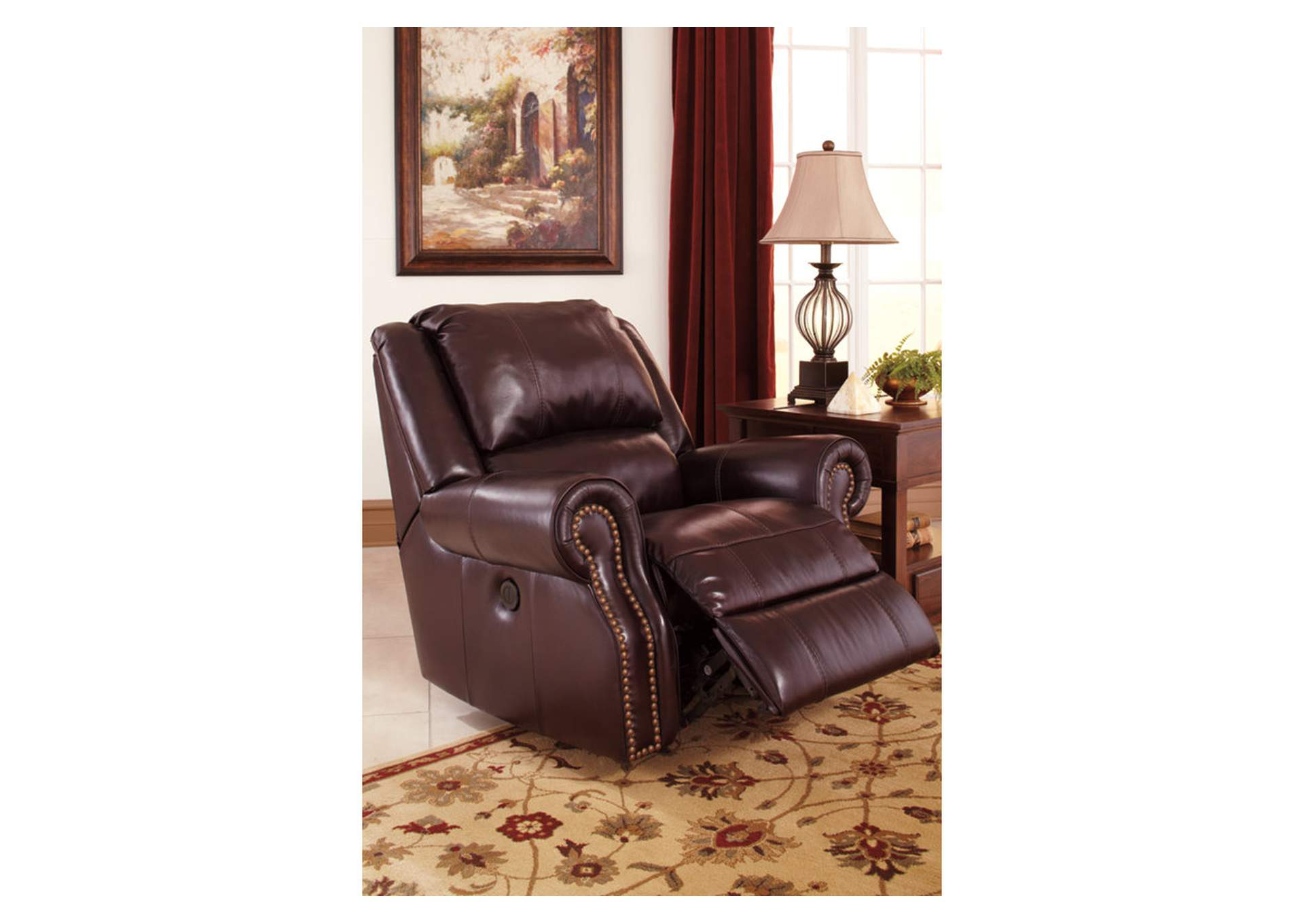 Walworth Black Cherry Power Rocker Recliner,Signature Design By Ashley