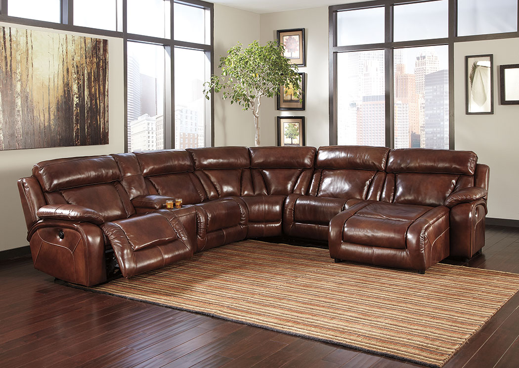 Elemen Harness Reclining Power Sectional w/Console,Signature Design by Ashley