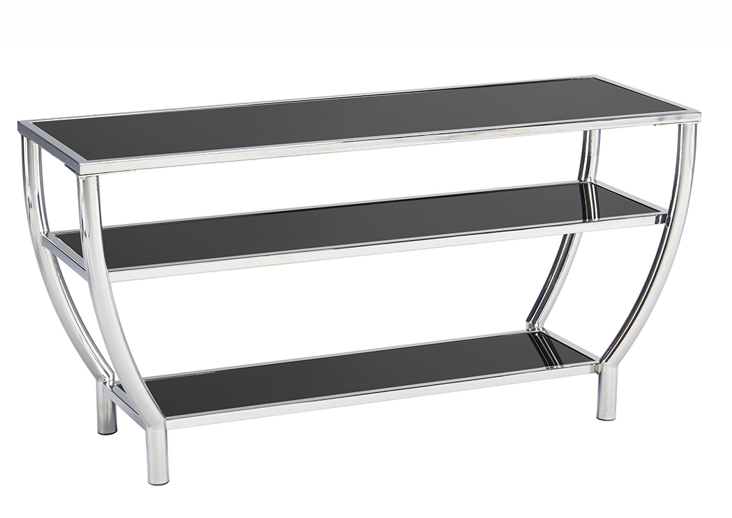Blasney Black/Chrome Finish TV Stand,Signature Design By Ashley