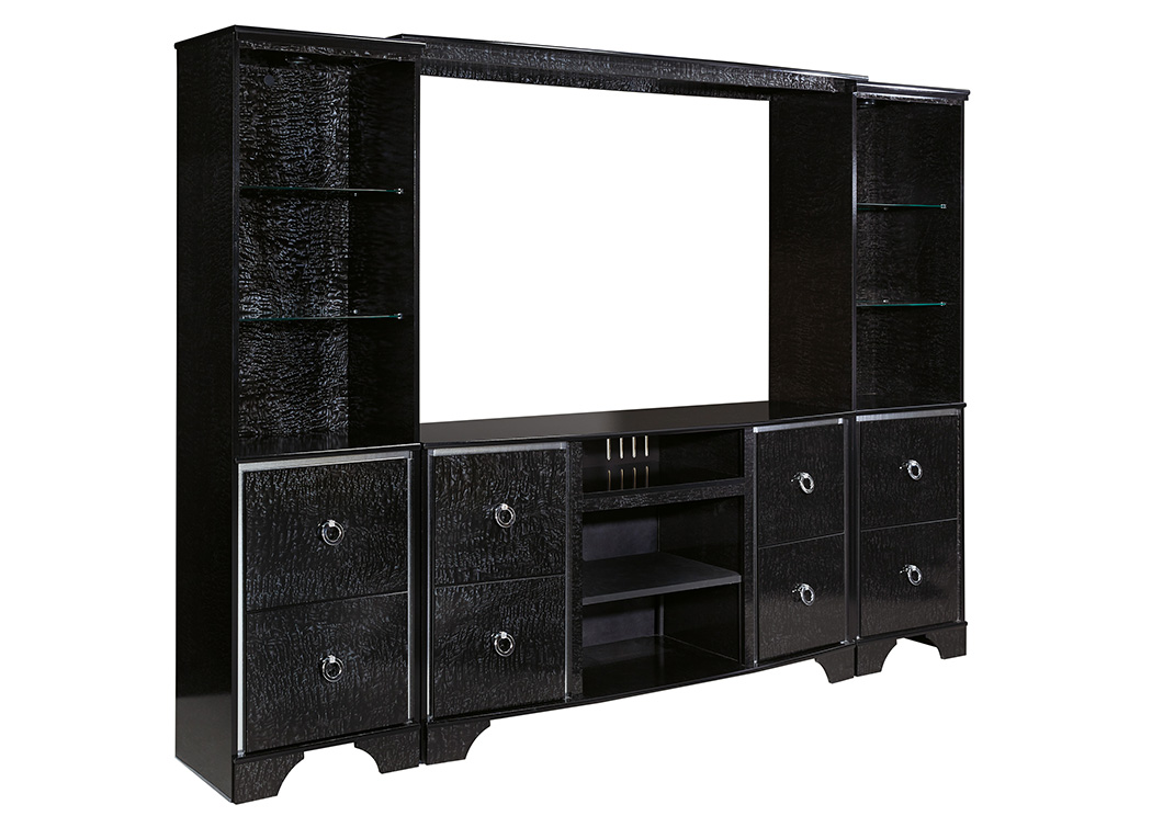 Amrothi Black Large Entertainment Center,Signature Design By Ashley