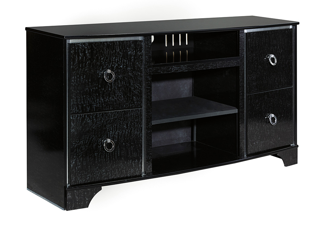 Amrothi Black Large TV Stand,ABF Signature Design by Ashley
