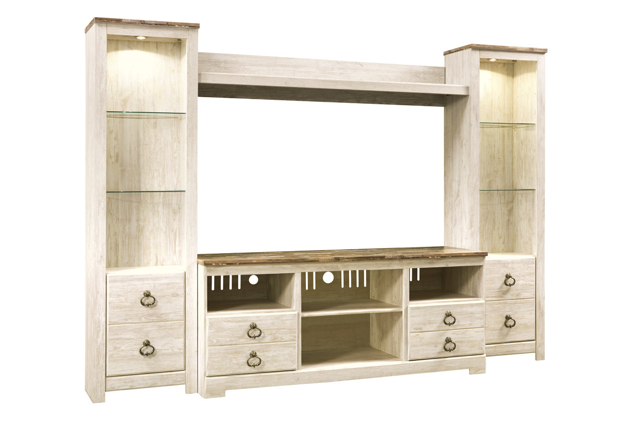 Davis Home Furniture Asheville Nc Willowton Whitewash Entertainment Center