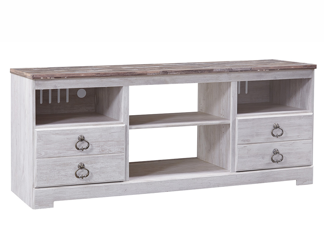 Willowton Whitewash Large TV Stand,ABF Signature Design by Ashley