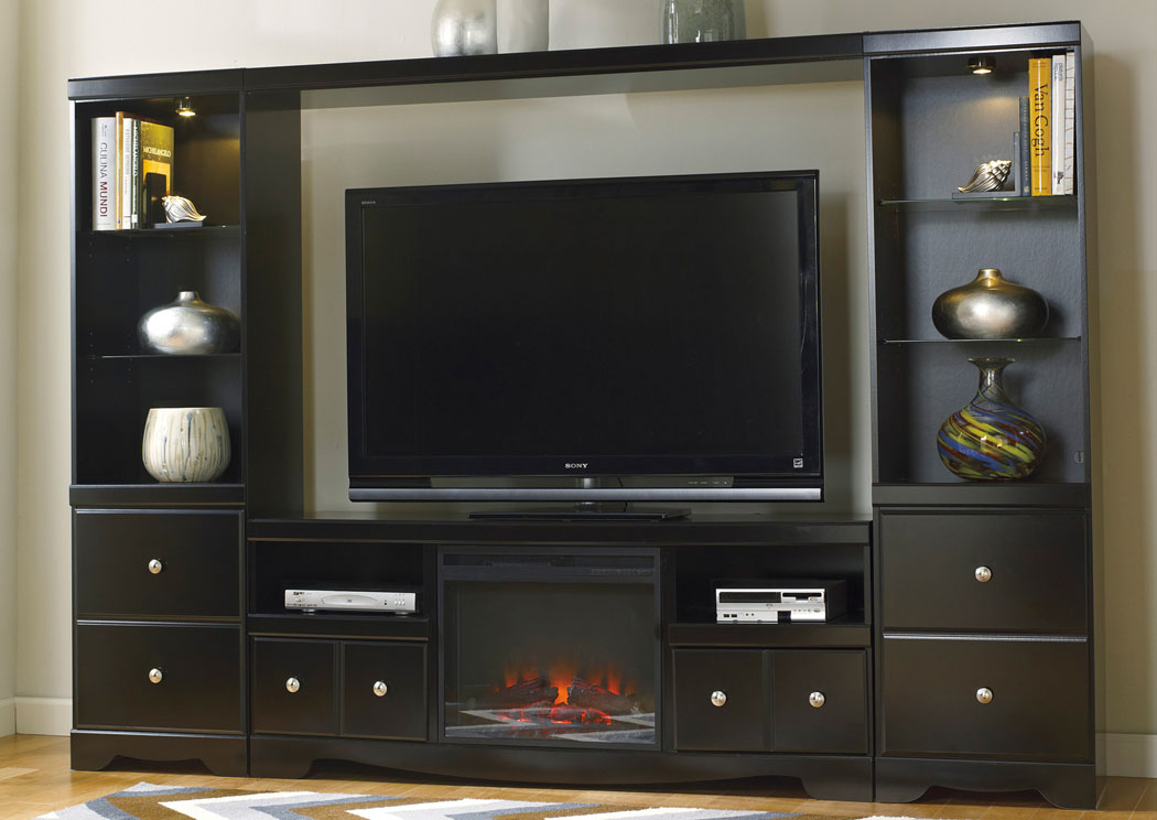 Shay Entertainment Center w/ LED Fireplace,ABF Signature Design by Ashley