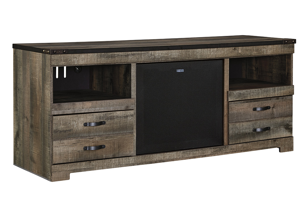 Trinell Brown Large TV Stand w/Large Integrated Audio,Signature Design by Ashley