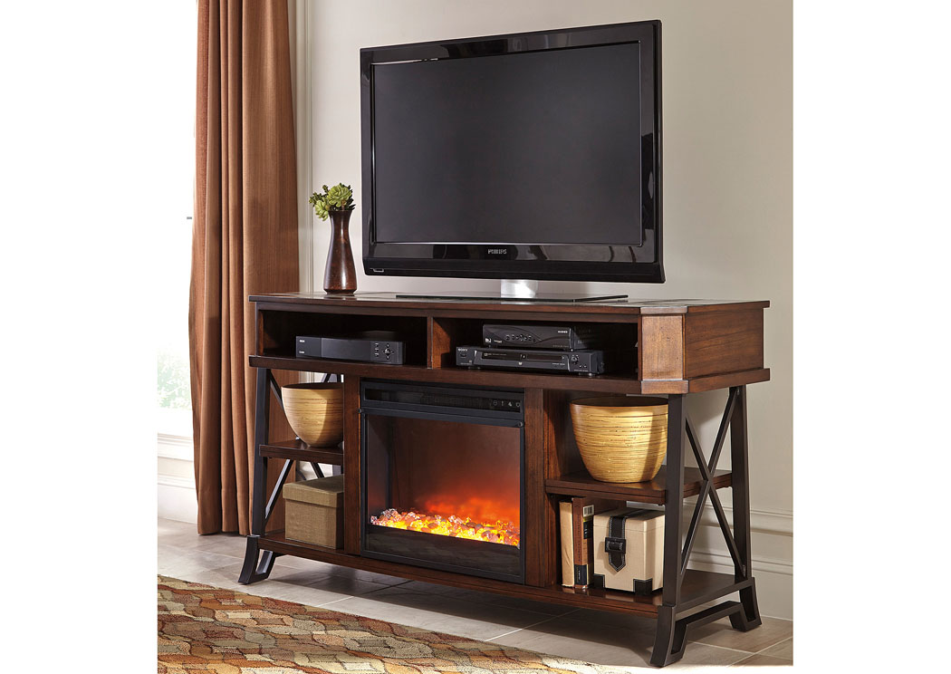 Vinasville Large TV Stand w/LED Fireplace Insert,Signature Design By Ashley
