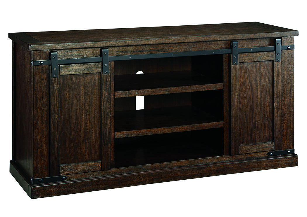 Budmore Rustic Brown Large TV Stand,Signature Design By Ashley