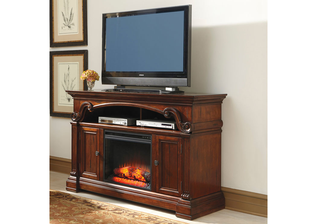 Alymere Large TV Stand w/LED Fireplace Insert,Signature Design By Ashley
