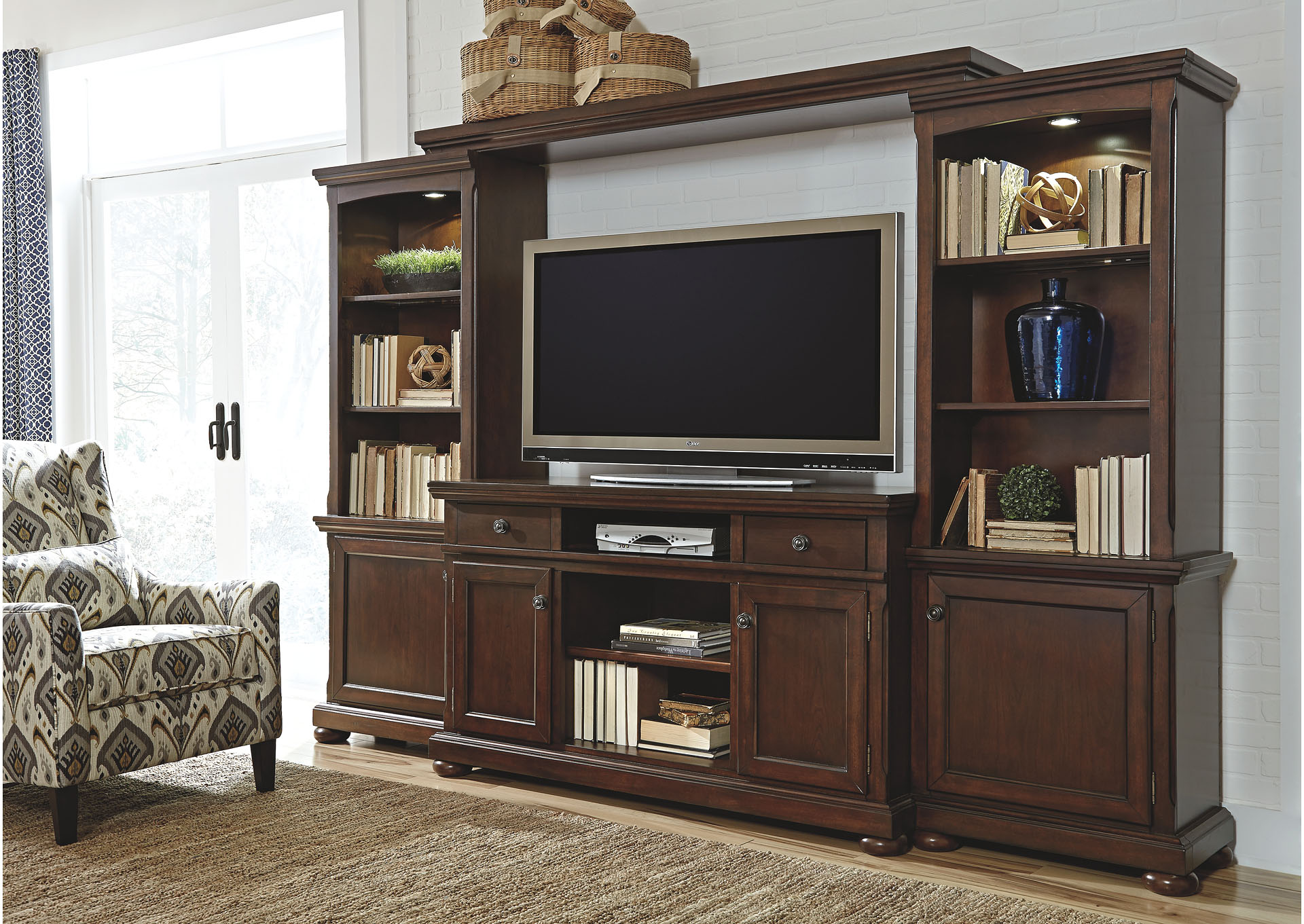 pin by furniture rubbed hutch new inch in liberty generation entertainment finish center tv black