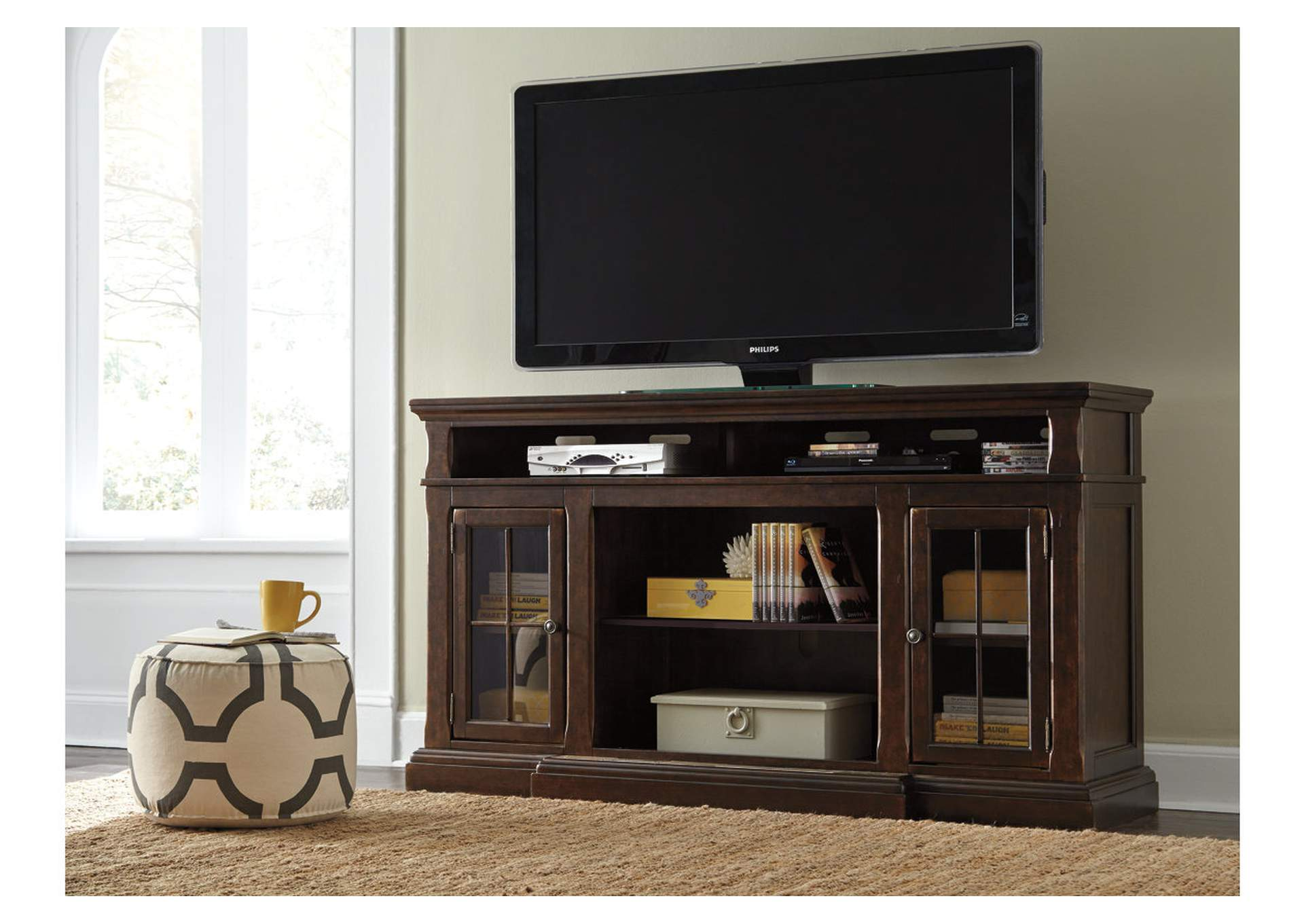Roddinton Dark Brown XL TV Stand,Signature Design By Ashley