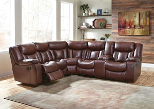 Amaroo Brown Reclining Sectional,Benchcraft