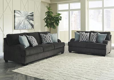 Charenton Charcoal Sofa & Loveseat