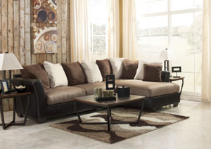 Masoli Mocha Right Facing Chaise Sectional