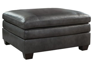 Gleason Charcoal Oversized Accent Ottoman,Signature Design By Ashley
