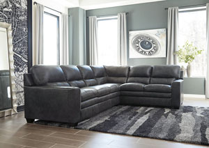 Gleason Charcoal Left Facing Sofa Sectional