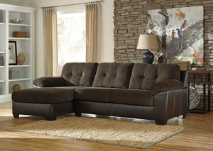 Vanleer Chocolate Left Facing Chaise End Sectional