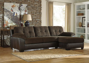 Vanleer Chocolate Right Facing Chaise End Sectional,Benchcraft