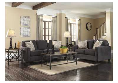 Alenya Charcoal Sofa & Loveseat