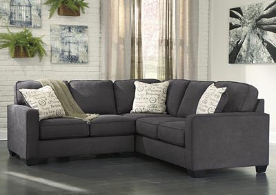 Alenya Right Facing Charcoal Sectional
