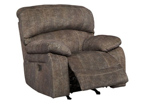 Cannelton Tri-Tone Gray Power Reclining Rocker