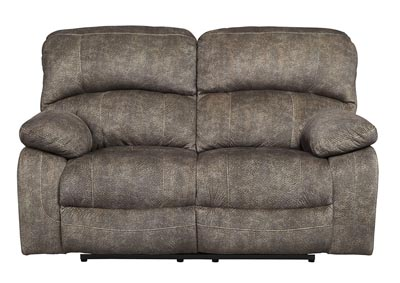 Cannelton Tri-Tone Gray Power Reclining Loveseat w/Adjustable Headrest