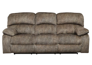 Cannelton Tri-Tone Gray Power Reclining Sofa w/Adjustable Headrest