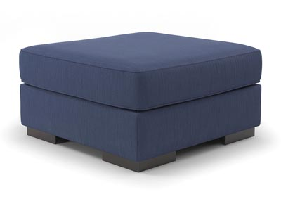 Bantry Nuvella Indigo Oversized Accent Ottoman