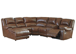 Billwedge Canyon Left Facing Reclining Corner Chaise Sectional w/Storage Console