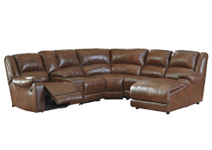 Billwedge Canyon Right Facing Reclining Corner Chaise Sectional w/Storage Console