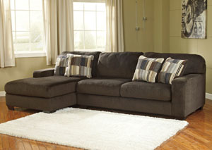 Westen Chocolate Left Arm Facing Chaise End Sectional
