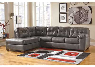 Alliston DuraBlend Gray Left Arm Facing Chaise End Sectional,Signature Design by Ashley